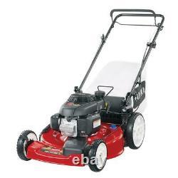 160cc High Wheel Honda Engine Walk Behind Gas Self Propelled Lawn Mower Bagger