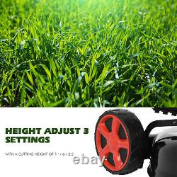 161cc 20-Inch Gas Powered Lawn Mower 2-in-1 High-Wheeled FWD Self-Propelled