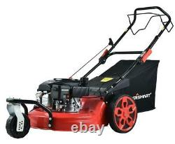 170cc Gas Self Propelled Lawn Mower 20 Inch Durable Steel Deck Adjustable Height