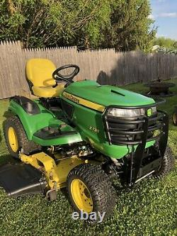 2016 John Deere X738 4WD Lawn Mower Tractor 54 Deck Kawasaki 25HP Twin Engine