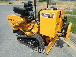 2019 Carlton Sp5014trx Self Propelled Stump Grinder, 35 HP Vanguard Gas, Remote