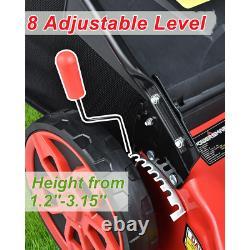20 in 3 in 1 170 cc Gas Walk Behind Self Propelled Lawn Mower PowerSmart Outdoor