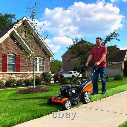 21 In 163 Cc Walk Behind Lawn Mower Push Cordless Lithium-Ion Electric Start