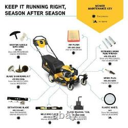 21 in. 159cc Cub Cadet Engine 3-in-1 Gas RWD Self Propelled Lawn Mower with