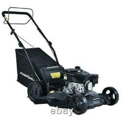 21 in. 170 cc Gas 3-in-1 Walk Behind Self Propelled Lawn Mower