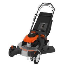 26 In. 208 Cc Gas Walk Behind 3-In-1 Wide Area Self Propelled Lawn Mower, Rear W