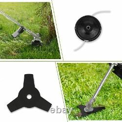 COOCHEER 42.7cc Weed Eater Gas Powered Weed Wacker 2-in-1 Trimmer Brush Cutter