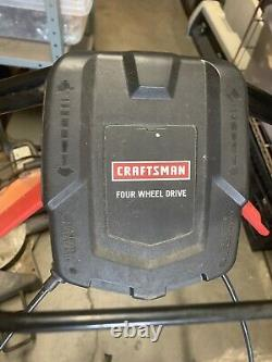 Craftsman Lawn Mower, Four Wheel Drive, Self Propelled, Gas Push, Walk Behind