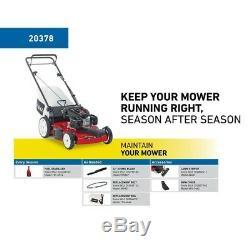 Gas Lawn Mower Walk Behind Self Propelled Variable Speed Outdoor Power Equipment