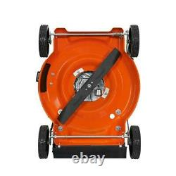 Gas Push Lawn Mower Self Propelled Adjustable Handle Height Single Lever Deck