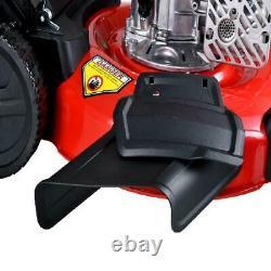 Gas Self Propelled Lawn Mower Compact Walk Behind Yard Grass Cutter Weed Mulcher