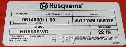 HUSQVARNA HU800AWD ALL WHEEL DRIVE Self Propelled Gas Lawn Mower