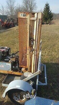 Hydraulic Drop Hammer Breaker Self Propelled Will Do 12 Of Concrete On Trailer