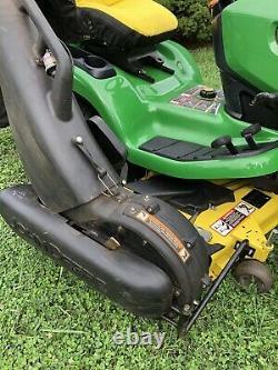 John Deere X320 Lawn Mower Tractor 22HP Kawasaki Engine 48 Deck & Bagger