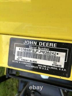 John Deere X570 X580 X590 X584 Lawn Mower 48 Front Blade & Manual Angle Kit