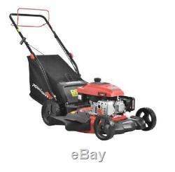 Lawn Mower Self Propelled Walk Behind Gas Compact Yard High Wheel Bagger 3-in-1