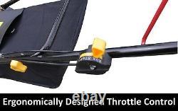 NEW Self Propelled 18 4 Stroke 4HP 4 Swing Blade Lawn Mower 135cc 55L Catcher