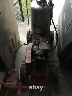 Newstripe Self Propelled 5.5hp Gas Line Striper Floor Paint Sprayer Stainless
