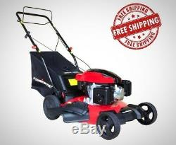 PowerSmart 21 In. 3 In 1 161cc Gas Self Propelled Walk Behind Lawn Mower New