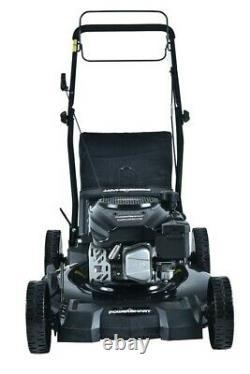 PowerSmart Gas Self Propelled Lawn Mower 3-in-1 170cc 21 Inch Black DB8621SR