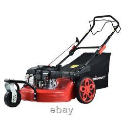 PowerSmart Self Propelled Lawn Mower 170cc Gas Walk Behind Bagger Outdoor Yard