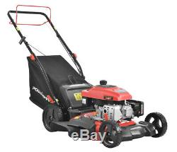 Push Gas Lawn Mower Walk Behind Variable Height Mulching With Bag Self Propelled