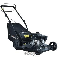 Self Propelled Lawn Mower 21 in. 170 cc 3-Position Bagger Mulching Gas Powered