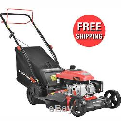 Self Propelled Walk Behind Lawn Mower Lightweight Compact 21 Inches 170cc Engine