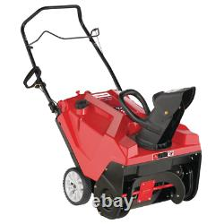 Squall 21 In. 123 Cc Single Stage Snow Blower Lightweight Self-Propelled