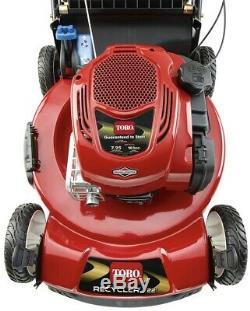 Toro 22in Pace Recycler Variable Speed Gas Walk Behind Self Propelled Lawn Mower