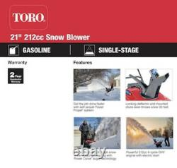 Toro Power Clear 21 Single Stage Self-Propelled Gas Snow Blower 38753
