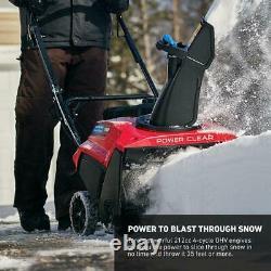 Toro Self Propelled Snow Blower Gas Single-Stage Variable Speeds Plastic Chute