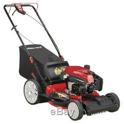 Troy-Bilt 21 in. Walk Behind Self Propelled Lawn Mower Cutting System Red Durble