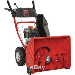 Troy-Bilt 24 in. 208 cc 2-Stage Gas Snow Blower with Electric Start Self Propelled