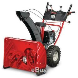Troy-Bilt Self Propelled Gas Snow Blower with Electric Start 26 in Clearing Path