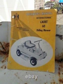 Vintage International Cub Cadet 60 Riding Mower. 1969
