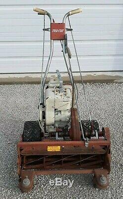 25 Tru-cut Automotrice Reel Mower Avant Rouleau & Stratton Briggs 5hp