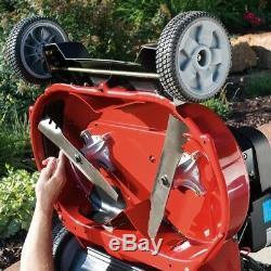 Autopropulsé Lawn Mower Wide Area Spin Arrêter Haute Roue Entiers Huile Moteur