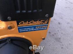 Cub Cadet Csv260 Assaut Chipper Vide Destructeur