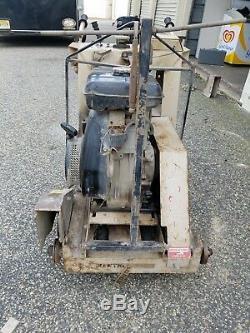 Edco Road Street Saw 16 Ss-16-11r Autopropulsés Scie À Eau 11hp Gaz Moteur