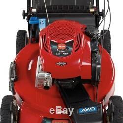 Extérieur Autopropulsés Gas Lawn Mower Manuel De Démarrage En Acier 4 Roues Motrices 22 Pouces