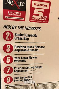 Honda 21 Po. Nexite À Vitesse Variable 4 En 1 Marche Gaz Derrière Autopropulsés Faucheuse