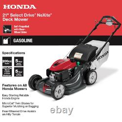 Honda Automotrice Propulsée 21 Dans. Nexite Variable Speed 4-in-1 Gas Walk Behind