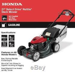 Honda Autopropulsés Faucheuse 21 Po. À Vitesse Variable 4 En 1 Propulsion Arrière Gaz