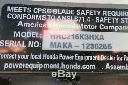 Honda Hrc216k3hxa Classe Commerciale Autopropulsés Tondeuse Avec Ensacheuse
