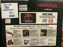 Honda Hrr216vka Honda 21 Po. 3 En 1 / Nib / Gaz Walk Behind Autopropulsés Faucheuse