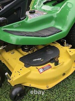 John Deere X320 Tondeuse De Pelouse 22hp Kawasaki Moteur 48 Deck & Bagger