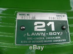 Lawn Boy, Cru, Antiquité, 1977 Modèle 8235, Cycle 2, Autopropulsé
