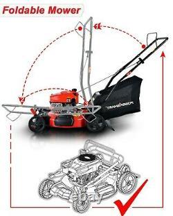 Pousser La Tondeuse 170cc Avec Deck En Acier Powersmart 21 3-en-1 Essence Nouvelle Marque