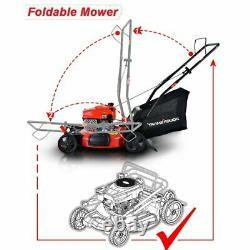 Pousser Tondeuse 170cc Avec Deck En Acier Powersmart 21 3-en-1 Essence